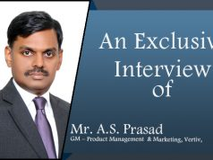 Mr. A.S. Prasad, GM – Product Management & Marketing, Vertiv