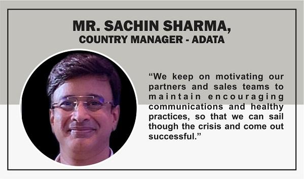 Mr. Sachin Sharma, Country Manager, India,ADATA