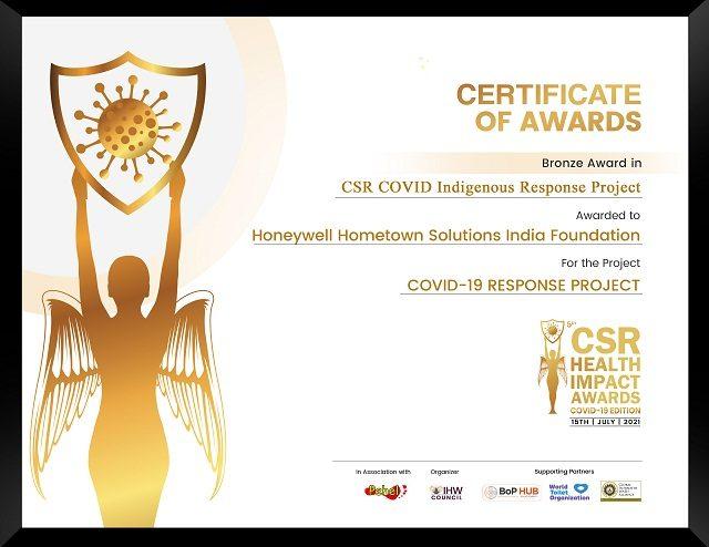 Honeywell Rewarded at the CSR Health Impact Awards