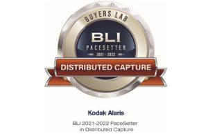 Kodak Alaris 2021-2022 US PaceSetter in Distributed Capture
